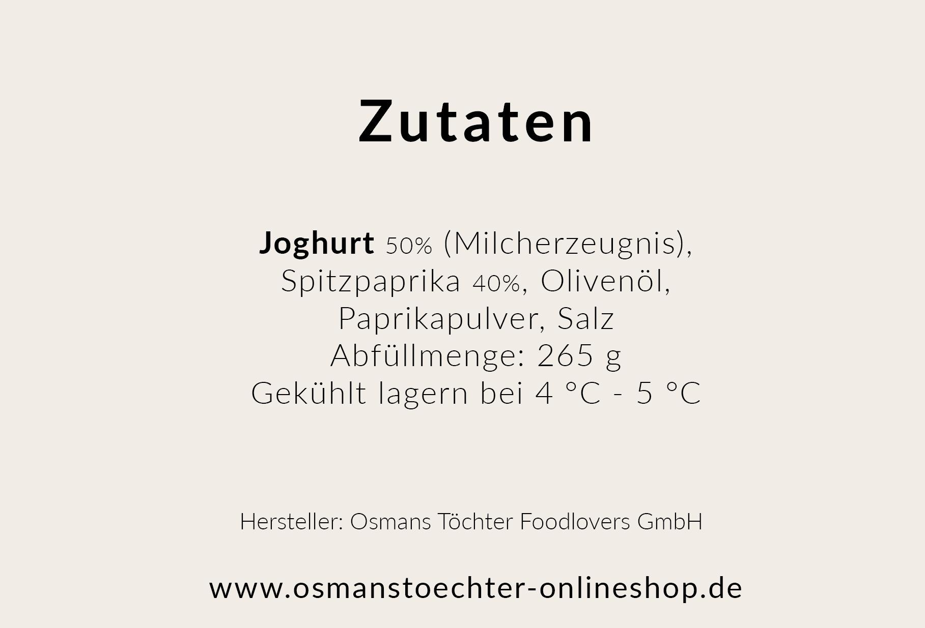Scharfe Paprika-Joghurtcreme